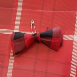 New! Red Plaid Holiday | Baby Boy/Girl | Bow